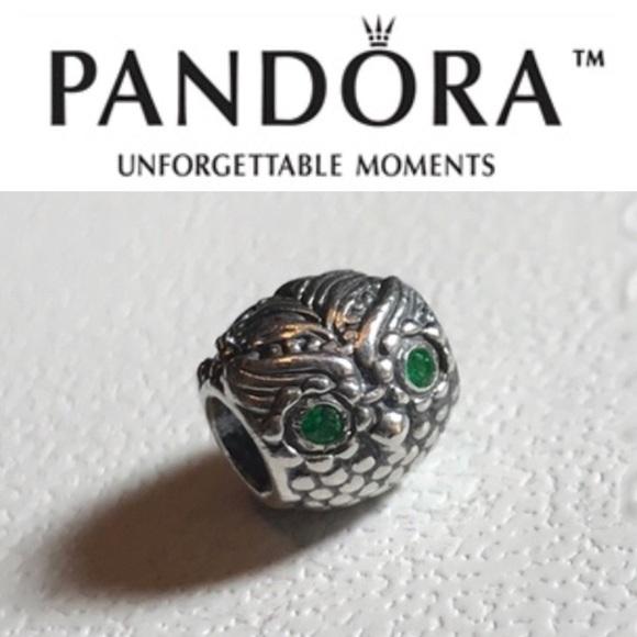 54721647e Pandora Jewelry | 791211czn Retired Green Eyes Owl Bead | Poshmark